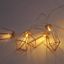 Top Sale 10L 20L 30L Rose Gold Diamond Shape Led String Fairy Lights
