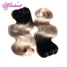 Body Wave Ombre Remy Brazilian Hair Extension Human Hair