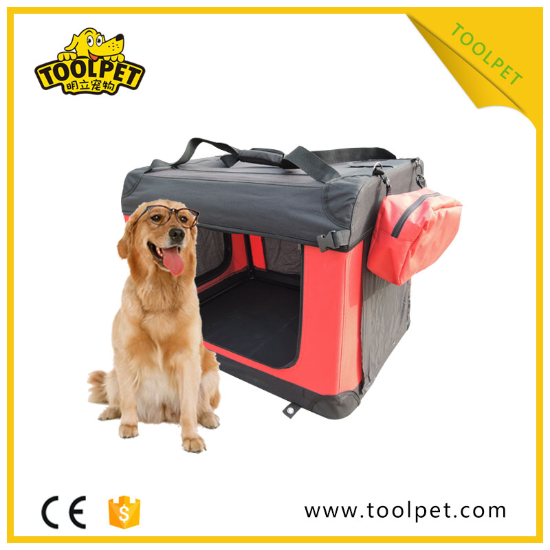 Outdoor Foldable pet crate soft big dog crates for sale