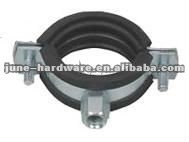 Heavy type steel pipe clamp with rubber