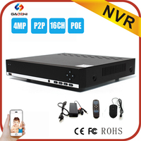 Low cost H.264 4MP/3MP POE p2p ahd security dvr 16ch