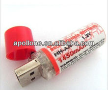 USB AA rechargeable battery 1450mAh factory offer