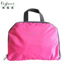 wholesale hot pink portable polyester school bag,new foldable travel bag,customize high quality backpack laptop bag