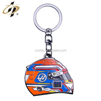 New product low price Brand metal helmet wholesale Custom key chain