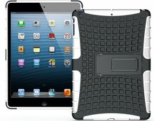 wholesale!! stand case for ipad air heavy duty armor hybird kick stand case for ipad air