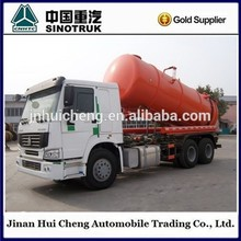 Sino Truck HOWO 16cbm Vacuum Sewage Suction Truck for Sale