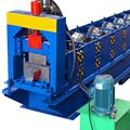 Corrugated zinc steel rain gutter cold roll forming machine