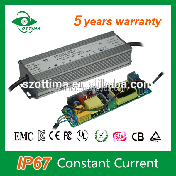 waterproof constant current 36v dc 1.8a 70w led driver for street light