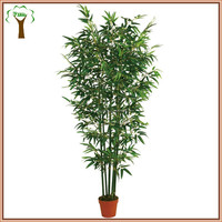 Potted artificial bamboo plant bamboo tree