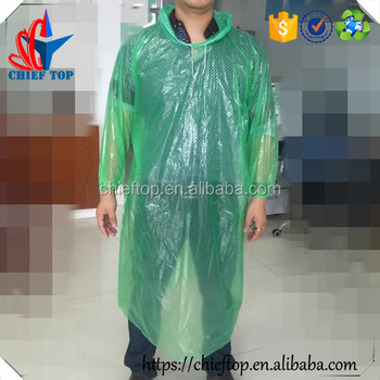 waterproof transparent disposable cheap raincoat