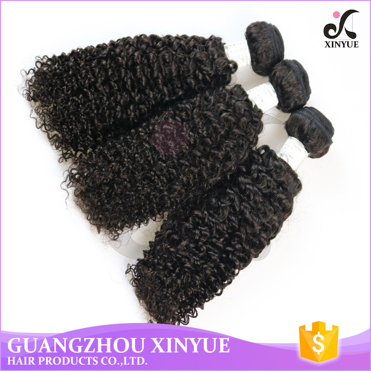 Kinky Curly Weave Human Hair Extensions 100% Unprocessed Malaysian Hair