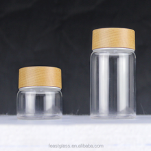 Glass jar and lid screw for podwer