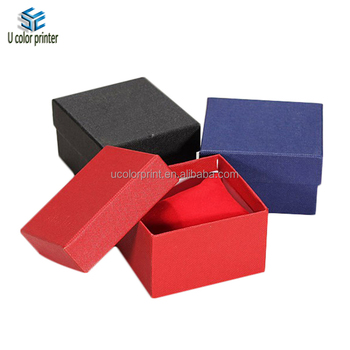 Custom Made Cardboard Watch Packaging Box With Pillow