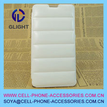 2014 make leather fashion wholesale clear cell phone case for galaxy note 3