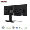 standing computer desk dual monitor bracket vesa table lcd support