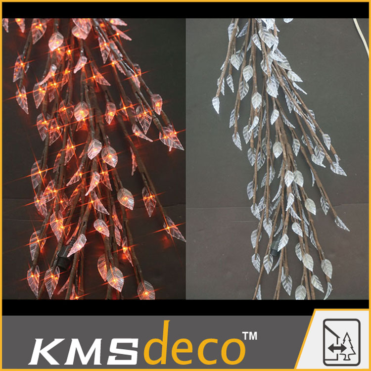 2015 hot fashion party wedding led leaves lights multicolor best selling