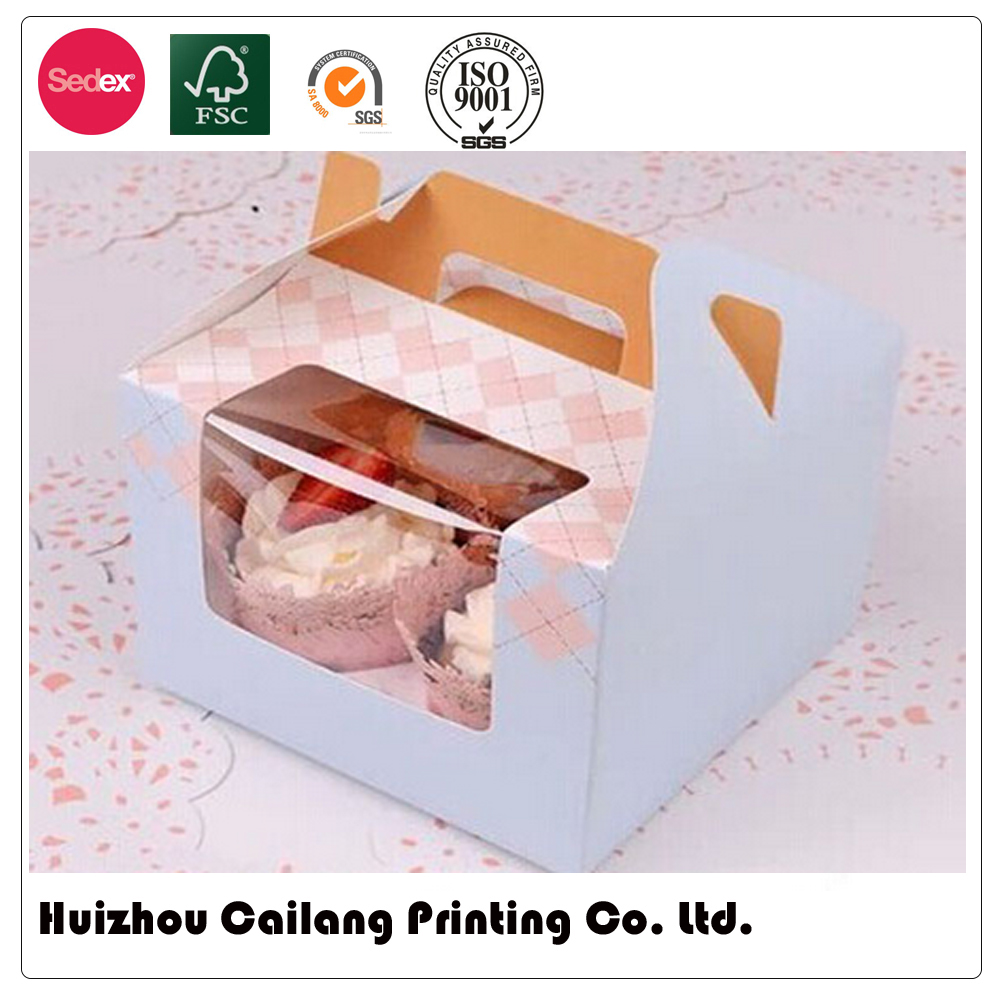 Custom CMYK printed paper cake box printing with lid,birthday cake box,package box for cake,