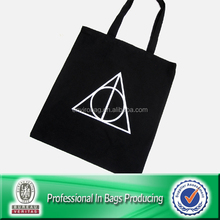 Customized Cheap Black Canvas Tote Bag Cotton Bag