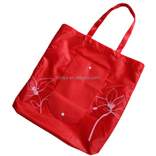 Newest top sell reusable folding rose shopping bag