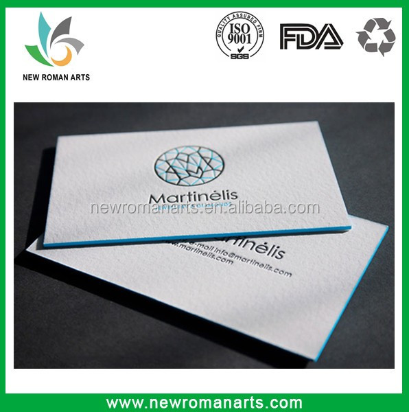 Customized Beautiful Design Business Card Printing Deboss/Emboss,White Background Luxury Foil Stamping Paper Card