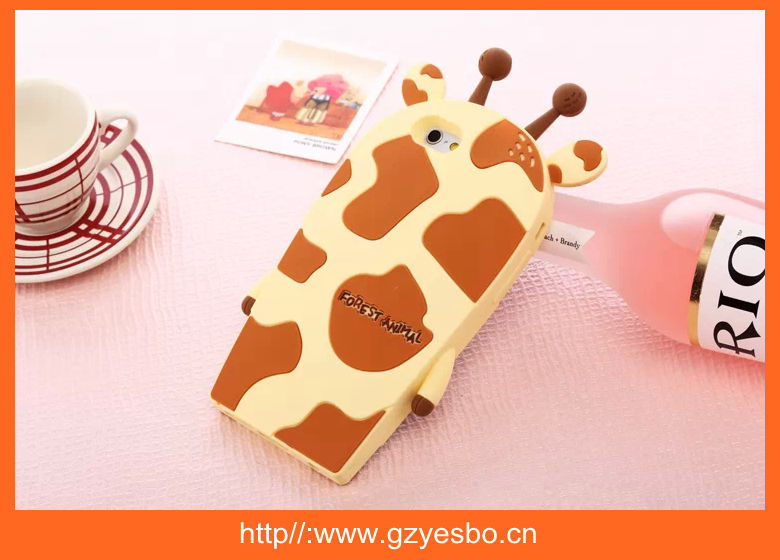 Animal Shaped 3D Silicon Case for IPhone 5, For IPhone 4 5 6 Wholesale Animal Shaped Silicone Cover