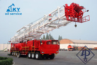 XJ250 oil well truck mounted workover rigs with high quality