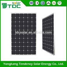 Best Selling Anodized Aluminium Alloy monocrystalline 12v solar panel 260w With Professional Technical Support