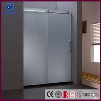 304 Stainless Steel Roller Shower Enclosure Cubicle Best Price Tempered Glass Plastic Sliding Shower Door(KD8013A)