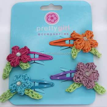 handmade girls kids hair accessories snap clips