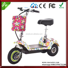 12V adult rechargeable battery powered electric scooters for sale