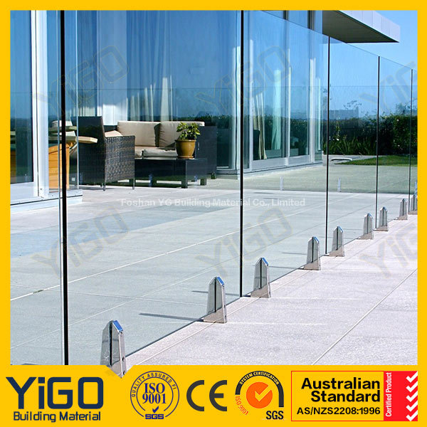 swimming pool wall panels/frameless pool fencing