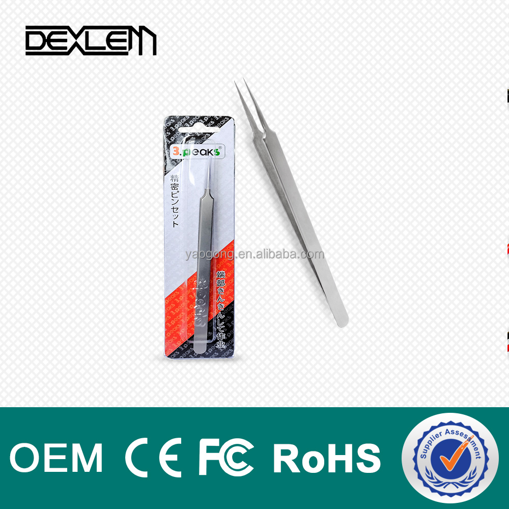 DELE10-15 Series High Temperature Resistance Ceramic Tweezers Precision Design For PCB Semiconductor