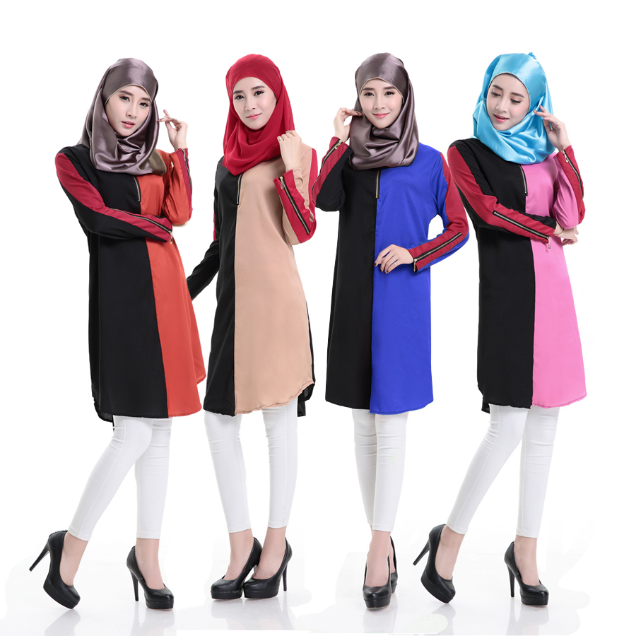 2016 Latest fashion patchwork design muslim dubai short abaya women ialamic clothing dubai burqa designs baju