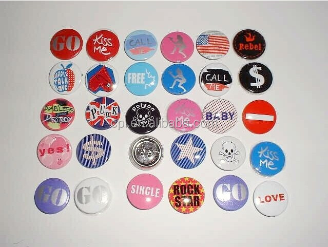 Colorful and various saize tin button badge