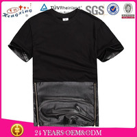 Plain wholesale men t shirt/ custom t shirt/ elongated t shirt