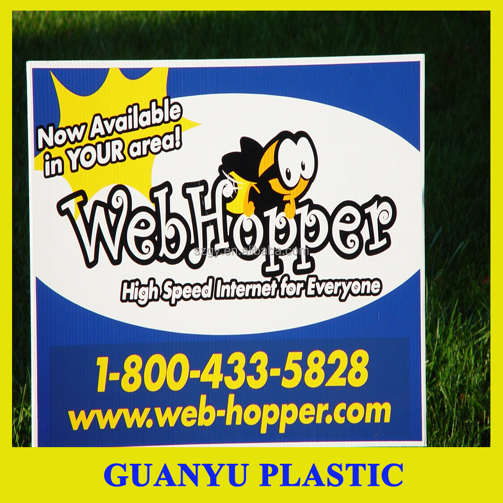 PP Corflute Corrugated Plastic Signs, Core Flute Signs, Yard Signs