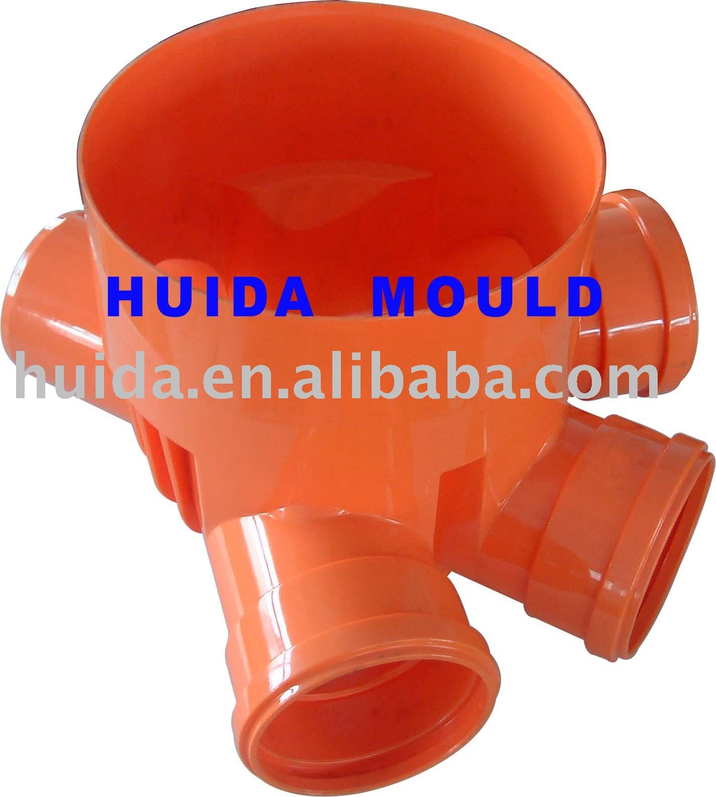 PP fitting mould inspection chamber plastic injection mould
