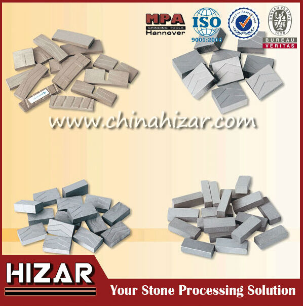 Multi Blade Diamond Segment with fast cutting formula for granite cutting