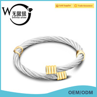 Infinite Modern Fashion Italian Bangles for Girlfriends or Lovers