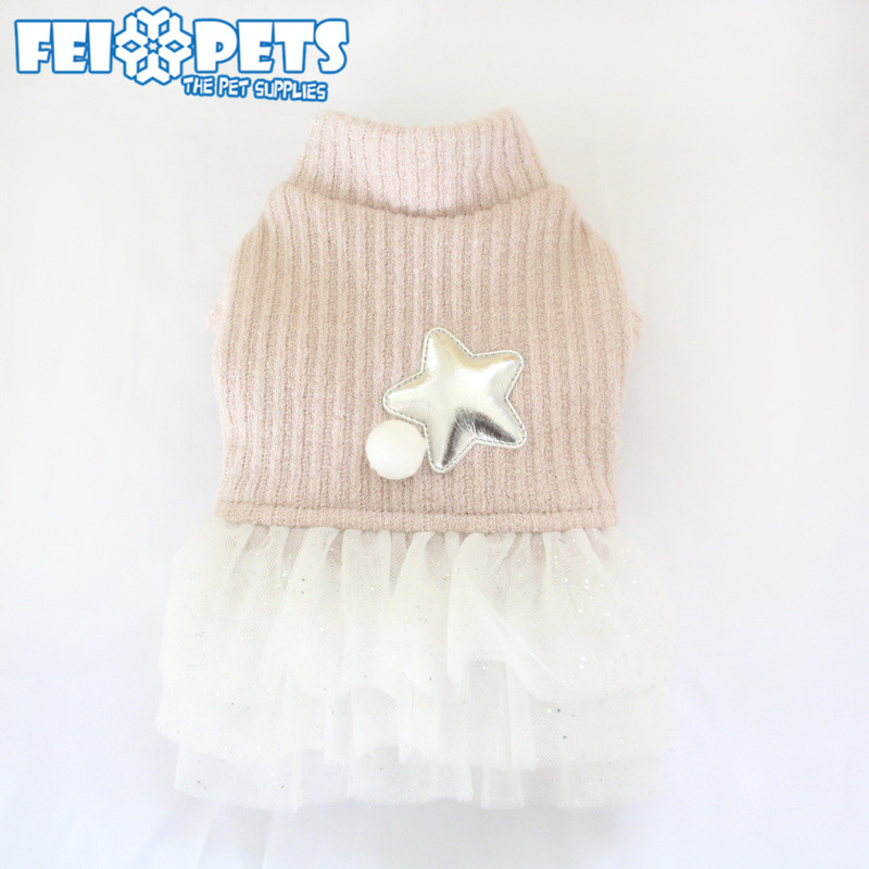 Small Dog Autumn Clothes She Puppy Dress Pink Soft Apparel Factory Price