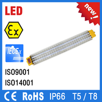 ATEX IP66 led explosion proof lighting fixture/ explosion proof fluorescent light fitting