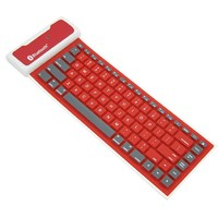Custom cheaper waterproof silcon bluetooth colored wireless keyboard