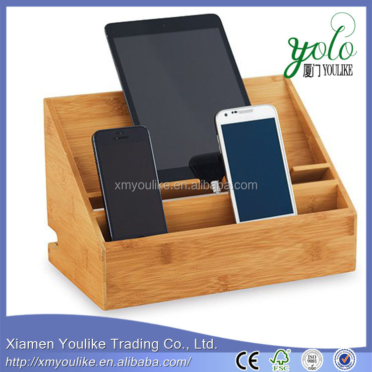 No charge bamboo mobile phone holder