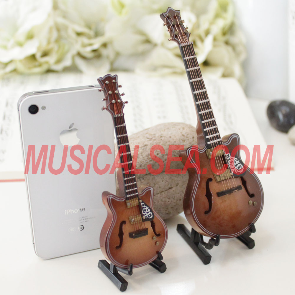 Hot sale Custom miniature guitar replicas wooden model for decoration and clip safety pin music art craft