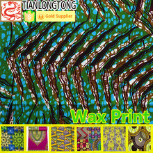 Fashion African 100% Cotton Real Wax Popualr Print Fabrics 6 yards