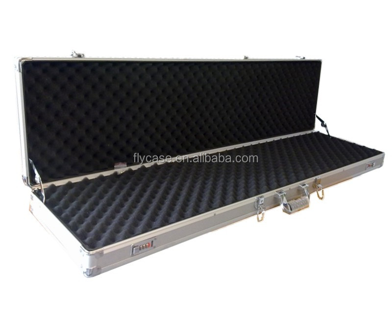 2014 aluminum alloy gun carrying case,aluminum long aluminum case with 4 lockable