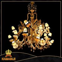 original factory price glass shade chrome color chandelier light UL/CUL Approval
