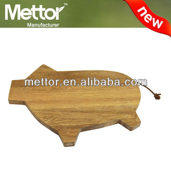 Mettor high quality wooden pig shape cutting board chopping board