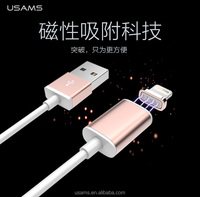 USAMS high speed 2.4A fast charging and data transmission magnetic cable for iphone 6 cable