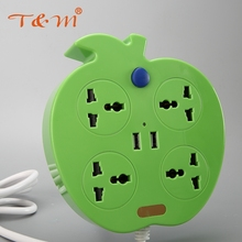 Fashion design power strip socket with 2 usb outlet
